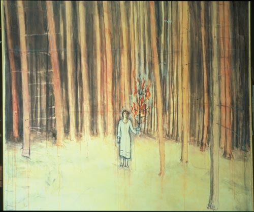 Anselm Kiefer.<em> Mann im Wald (Man in the Forest)</em> 1971. Oil on canvas, 68 1/2 x 74 3/8 in (174 x 189 cm).
