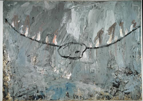 Anselm Kiefer.<em> Palette</em> 1981. Oil and mixed media on canvas, 114 x 157 1/2 in (290 x 400 cm).