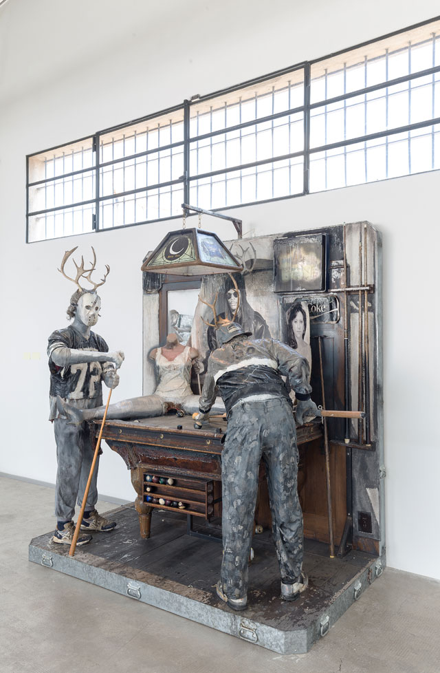 Edward & Nancy Reddin Kienholz. The Pool Hall, 1993. Installation view, Fondazione Prada, Milano. Photograph: Delfino Sisto Legnani Studio. Courtesy Fondazione Prada.