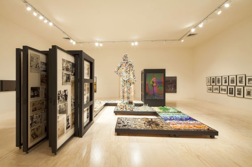 Installation view (2) of Mike Kelley at MoMA PS1, 2013. Photograph: Matthew Septimus.