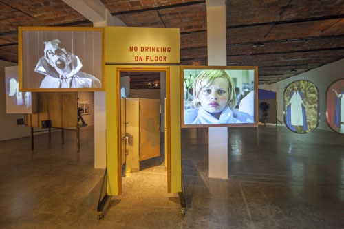 Installation view (1) of Mike Kelley at MoMA PS1, 2013. Photograph: Matthew Septimus.