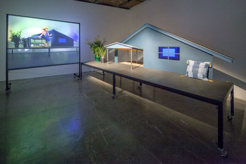 Installation view (4) of Mike Kelley at MoMA PS1, 2013. Photograph: Matthew Septimus.