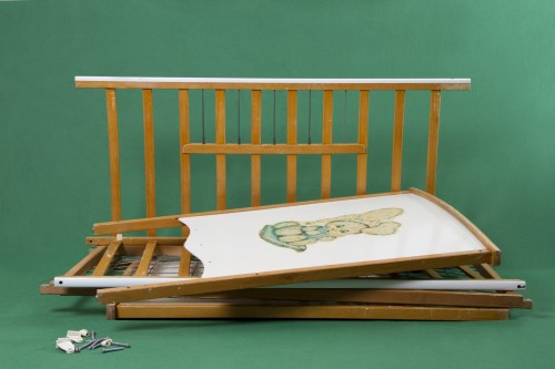 Kennedy Browne. The Wonder Years - Jeff Bezos Crib, 2013. 1960s era infants crib. Courtesy the artists.
