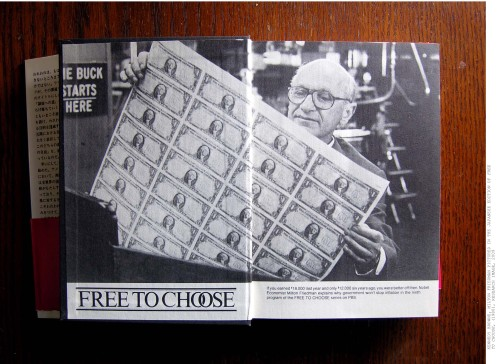 Kennedy Browne. Research image from Japanese edition of Free to Choose, Milton Friedman, 2002.