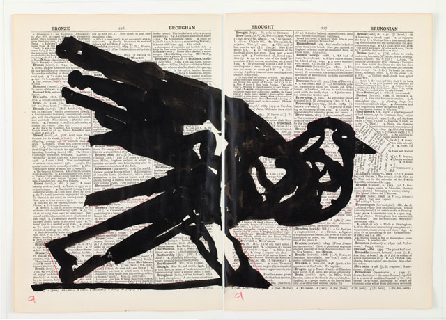 William Kentridge. Second Hand Reading, 2013. Flipbook film from drawings on single pages of the Shorter Oxford English Dictionary, HD video, colour, sound. Courtesy William Kentridge, Marian Goodman Gallery, Goodman Gallery and Lia Rumma Gallery.