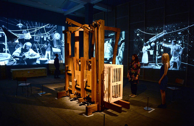 William Kentridge: Thick Time. Installation view. Photograph: Doug Peters.
