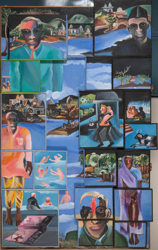 Bhupen Khakhar. Night, 2002. Oil paint on canvas. Courtesy of Kiran Nadar Museum of Art (New Delhi, India). © Estate of Bhupen Khakhar.