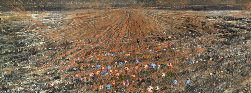 Anselm Kiefer. <em>Aperiatur Terra et Germinet Salvatorem</em> 2005-06. Oil, acrylic, emulsion and shellac on canvas 110 1/4 x 299 3/16 in. (280 x 760 cm) &copy; the artist Photo: Todd-White Art Photography Courtesy Jay Jopling/ White Cube (London).