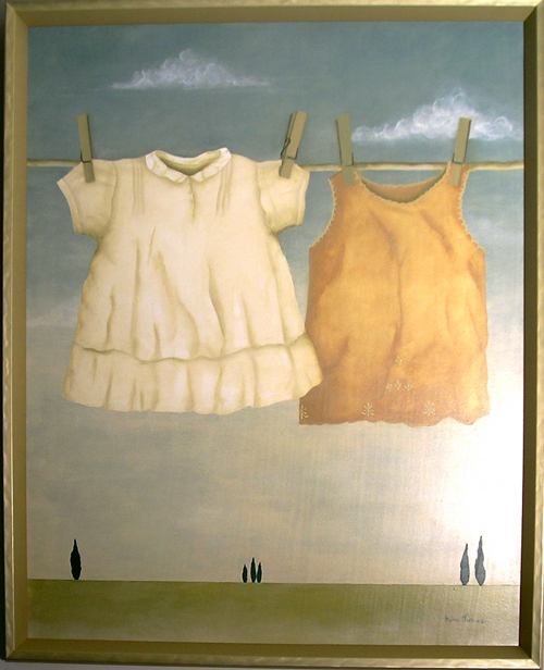 Kim Thomas. <em>Baby Clothes</em>. 24 x 30. Acrylic.
