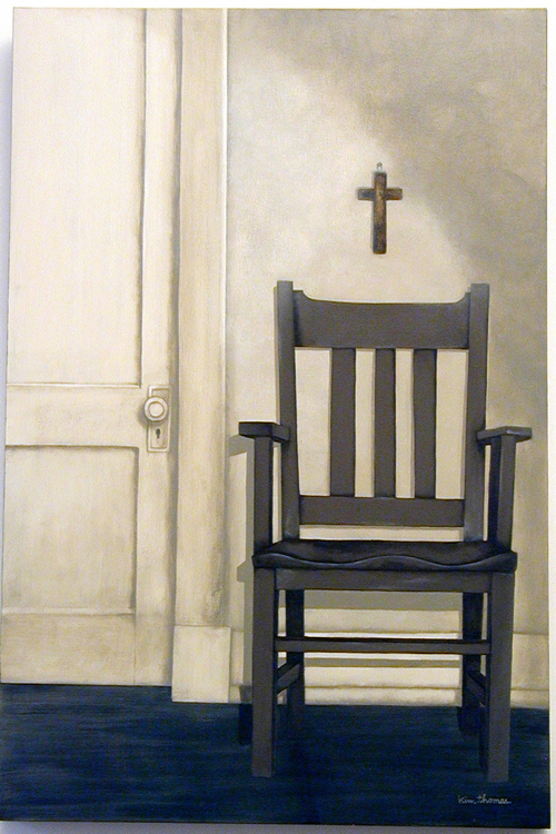 Kim Thomas. <em>The Waiting Room</em>. 24 x 36. Acrylic.