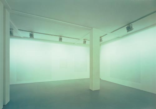 Martin Kippenberger. <em>The White Paintings of 1991</em> (Die weissen Bilder von 1991). Mixed media, 11 parts: 300 x 250cm (3); 240 x 200 cm (2) 180 x 150 cm (2); 120 x 100 cm (1); 90 x 75 cm (3) (c) Estate Martin Kippenberger. Galerie Gisela Capitain, Cologne.
