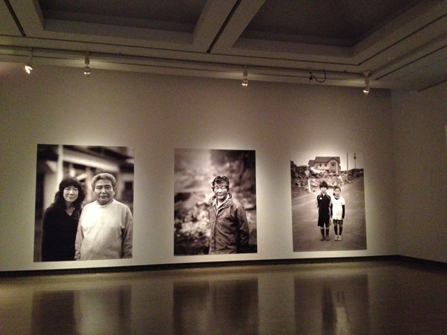 Kishin Shinoyama. Gallery view, ACCIDENTS (Disaster 11 March 2011―Portraits of the victims of the Great East Japan Earthquake) Yokohama Museum of Art, Japan, 2017.