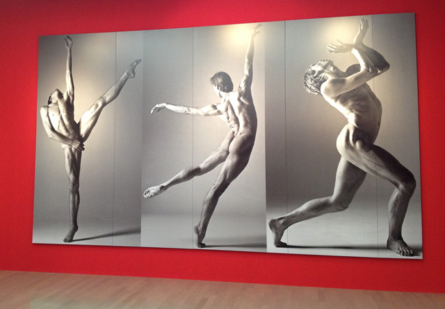 Kishin Shinoyama. Vladimir Malakhov, 1998. Gallery view. Yokohama Museum of Art, Japan, 2017.