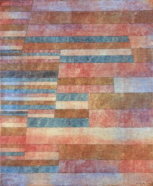 Paul Klee, Steps, 1929. Oil and ink on canvas,
