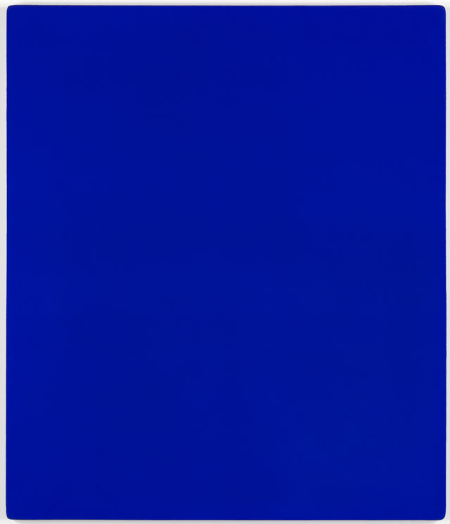 Yves Klein. Untitled blue monochrome (IKB 79), 1959. Paint on canvas on plywood, 139.7 x 119.7 x 3.2 cm. © Yves Klein, ADAGP, Paris/DACS, London, 2017.