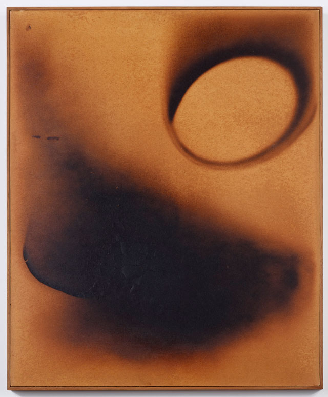 Yves Klein. Untitled Fire painting (F 101), 1961. Burned paper mounted on cardboard, 62.5 x 52 cm. © Yves Klein, ADAGP, Paris/DACS, London, 2017. Photograph © Museum moderner Kunst Stiftung Ludwig Wien.