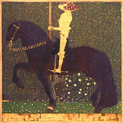 Gustav Klimt. <em>The Golden Knight (Life Is a Struggle), </em>1903 &copy; Aichi Prefectural Museum of Art, Nagoya
