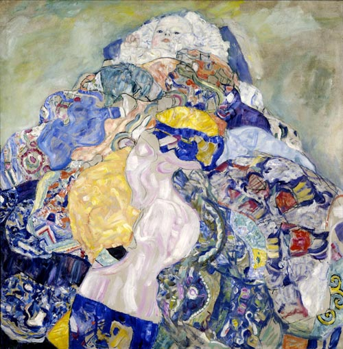 Gustav Klimt. <em>Baby (Cradle)</em><em>,</em> 1917/1918. Oil on canvas. Image courtesy of the Board of Trustees, National Gallery of Art, Washington &copy; Gift of Otto and Franciska Kallir with the help of the Carol and Edwin Gaines Fullinwider Fund