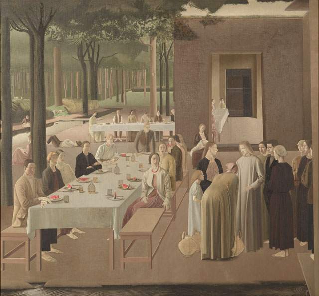 Winifred Knights. The Marriage at Cana, 1923. Oil on canvas, 184 x 200 cm. Collection of the Museum of New Zealand Te Papa Tongarewa. Gift of the British School at Rome, London, 1957. © The Estate of Winifred Knights.