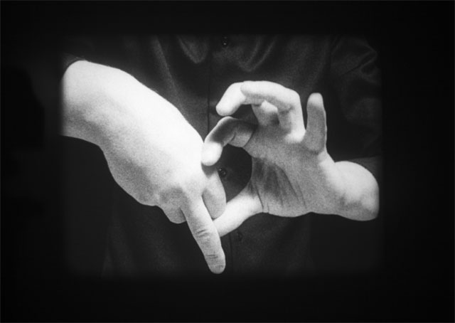 Joachim Koester. Variations of Incomplete Open Cubes, 2011. 16mm film, black and white, silent 10 min 24 sec, film still. Courtesy the artist and Jan Mot, Brussels.
