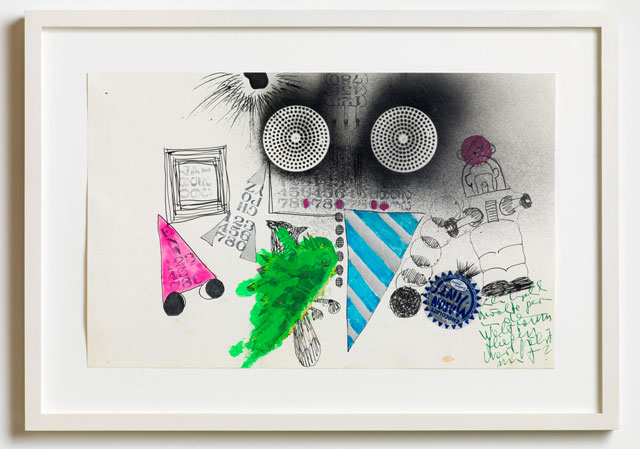 Kiki Kogelnik. Ich Kogelnik möchte gern ..., 1963. Acrylic, enamel, India ink, ink and foil on paper, 35.5 x 55.5 cm (14 x 21 3/4 in). Image courtesy of Kiki Kogelnik Foundation and König Galerie.