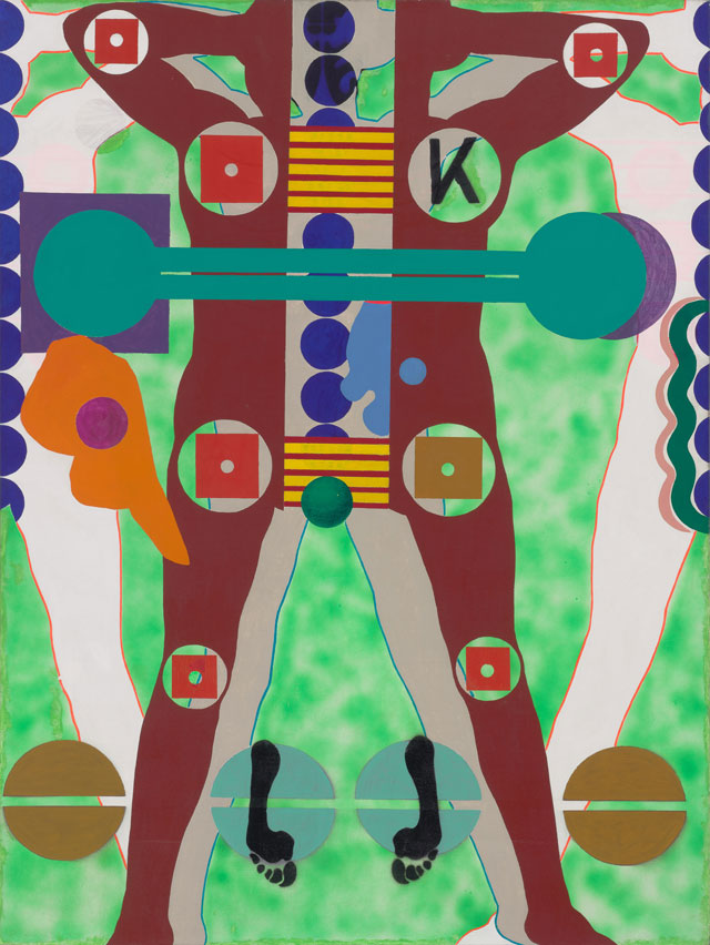 Kiki Kogelnik. Siempre Por Tio, 1964. Oil and acrylic on canvas, 139 x 137 cm (76 x 64 in). Image courtesy of Kiki Kogelnik Foundation and König Galerie.