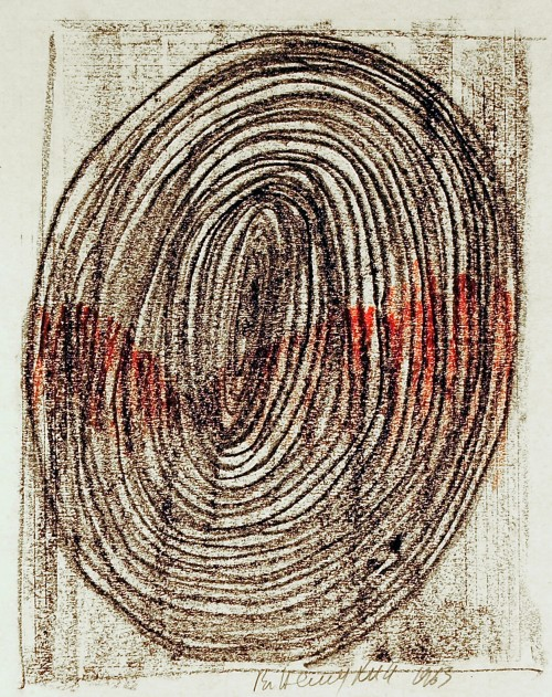 Vladimir Nemukhin.  Untitled, 1963. Crayon on paper, 10-3/4 x 11-3/4 in. Courtesy of the Kolodzei Art Foundation.