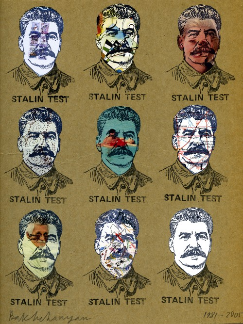 Vagrich Bakhchanyan. Stalin Face, 1981; 2005. Stamped card board, 11 x 9 in. Courtesy of the Kolodzei Art Foundation.