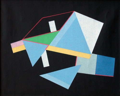 Leonid Borisov. Composition K. No.2, 1983. Oil on canvas, 23-5/8 x 29-5/8 in. Courtesy of the Kolodzei Art Foundation.