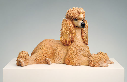Jeff Koons. Poodle, 1991. Polychromed wood, 23 x 39 1⁄2 x 20 1⁄2 in (58.4 x 100.3 x 52.1 cm). Whitney Museum of American Art, New York; promised gift of Thea Westreich Wagner and Ethan Wagner. © Jeff Koons.