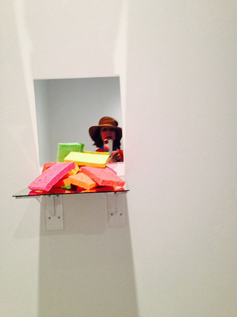 Jeff Koons. Sponge shelf, 1974. Photograph: Jill Spalding.