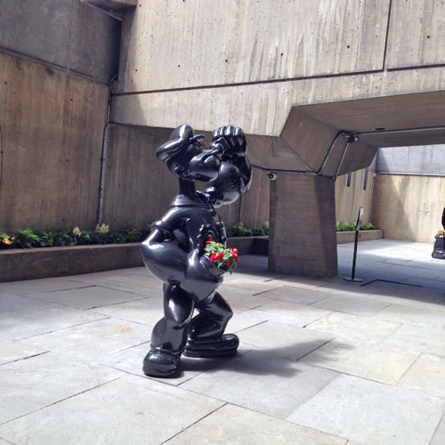 Jeff Koons. Popeye, 2009. Black granite. Photograph: Jill Spalding.