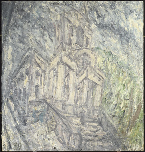 Leon Kossoff. <em>Christchurch Spitalfields</em>, 2005. Private collection &copy; Leon Kossoff