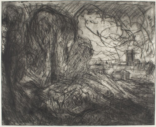 Leon Kossoff. <em>From Constable: Stoke-by-Nayland. </em>Private collection &copy; Leon Kossoff