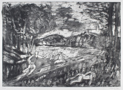 Leon Kossoff. <em>From Poussin: Landscape with a Man killed by a Snake. </em>Private Collection &copy; Leon Kossoff