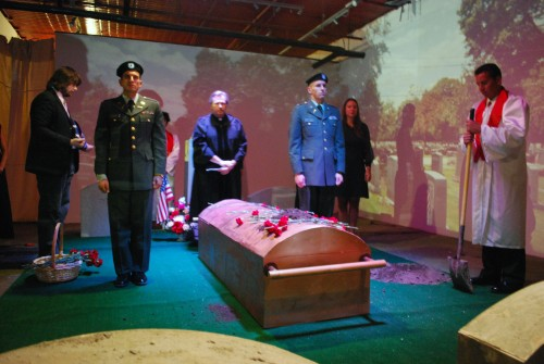 Marni Kotak. My Grandfather's Funeral. Performance/installation, mixed media, dimensions variable. © 2009, Marni Kotak. Image courtesy of the artist.
