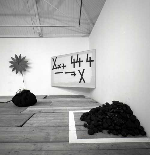 Jannis Kounellis (installation view), 2004. Photo: Manolis Baboussis