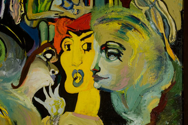 György Kovásznai. Large Yellow Composition (detail), 1982. Oil on canvas, 150 x 300 cm. Photograph: Kovásznai Research Workshop.