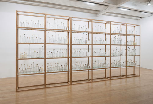 Tania Kovats. All the Sea, 2012–14. Seawater, glass, cork, oak. Courtesy the artist. Photograph: Ruth Clark.