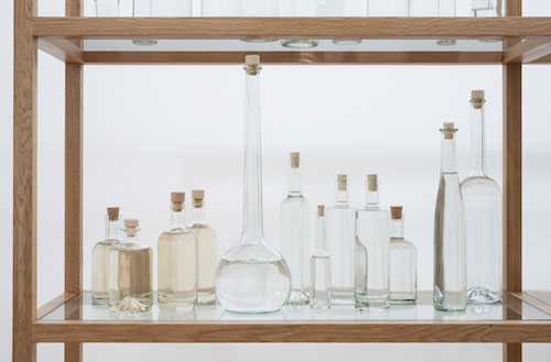 Tania Kovats. All the Sea, 2012–14 (detail). Seawater, glass, cork, oak. Courtesy the artist. Photograph: Ruth Clark.