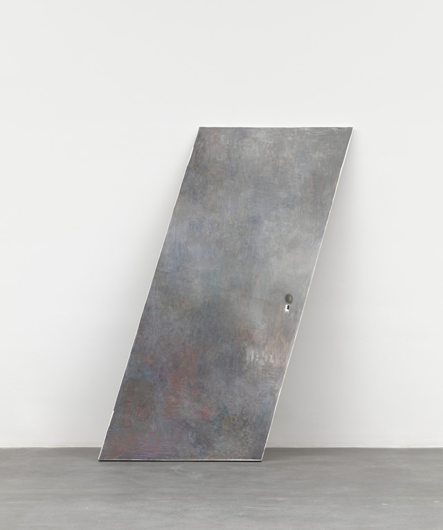 Guillermo Kuitca. Untitled, 2014. Oil on wooden panel, 230 x 106 x 4 cm (90 1/2 x 41 3/4 x 1 5/8 in). Image © Guillermo Kuitca. Courtesy the artist and Hauser & Wirth. Photograph: Alex Delfanne.