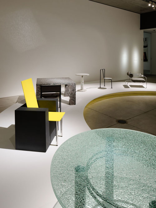 <p>Shiro Kuramata and Ettore Sottsass. Exhibition installation view 1.