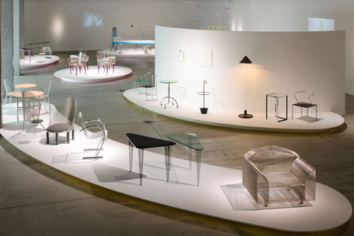 <p>Shiro Kuramata and Ettore Sottsass. Exhibition installation view 2.