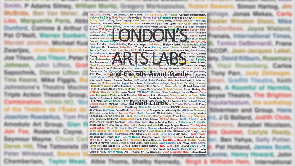 London's Arts Labs and the 60s Avant-Garde, book cover, designed by David Curtis.