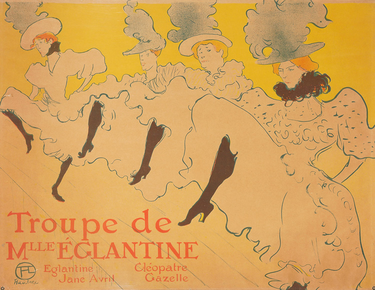Henri de Toulouse-Lautrec. The troupe of Mademoiselle Eglantine, 1896. Photo © Musée d'Ixelles-Bruxelles / Courtesy of Institut für Kulturaustausch, Tübingen.
