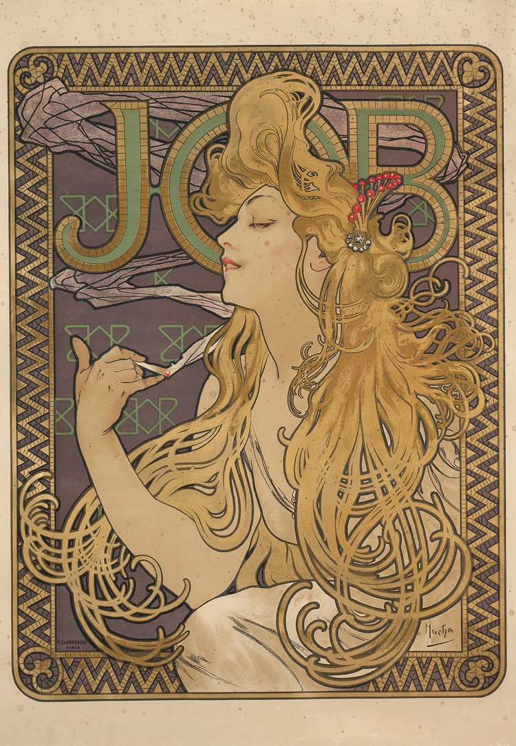 Alphonse Mucha. Job, 1897. Photo © Musée d'Ixelles-Bruxelles / Courtesy of Institut für Kulturaustausch, Tübingen.