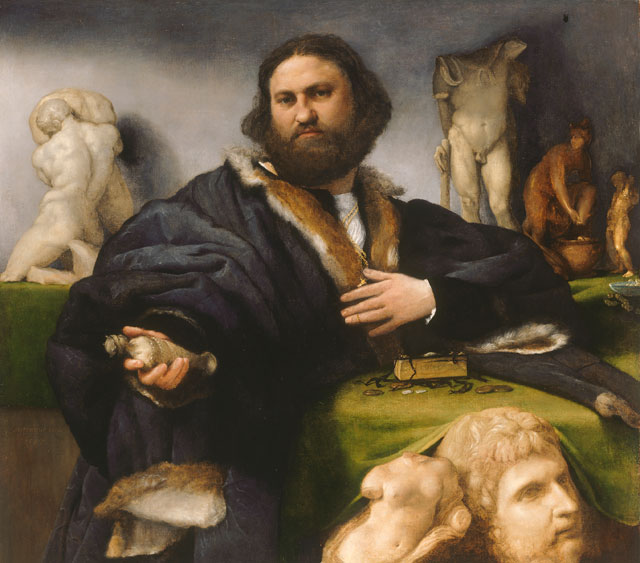 Lorenzo Lotto. Portrait of Andrea Odoni, 1527. Oil on canvas, 104.3 × 116.8 cm. Lent by Her Majesty The Queen Royal Collection Trust / © Her Majesty Queen Elizabeth II 2018.