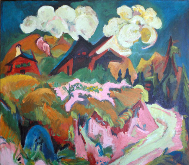 Ernst Ludwig Kirchner. Stafelalp Road, 1918/19. © Private collection. Photo: Raymond Naef.