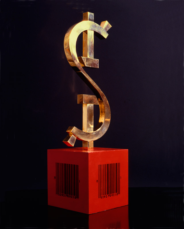 Leonid Lamm. 'Dollar' from the early 1990s. Claude and Nina Gruen Collection of Contemporary Russian Art.