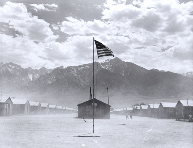 Dorothea Lange. Manzanar Relocation Center, Manzanar, California, July 3, 1942. © The Dorothea Lange Collection, the Oakland Museum of California.